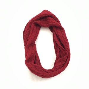 Nautica Cable Knit Infinity Scarf - Burgundy